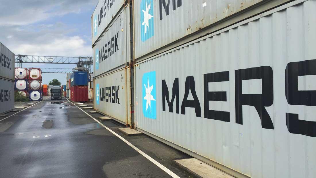 Sanierung von Asphalt im Bereich der Containerstellplätze