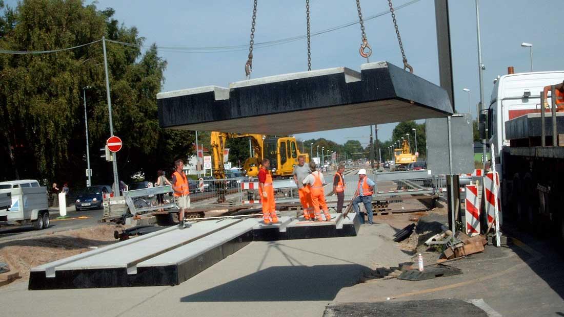 Einbau Bahnübergang in kurzer Bauzeit