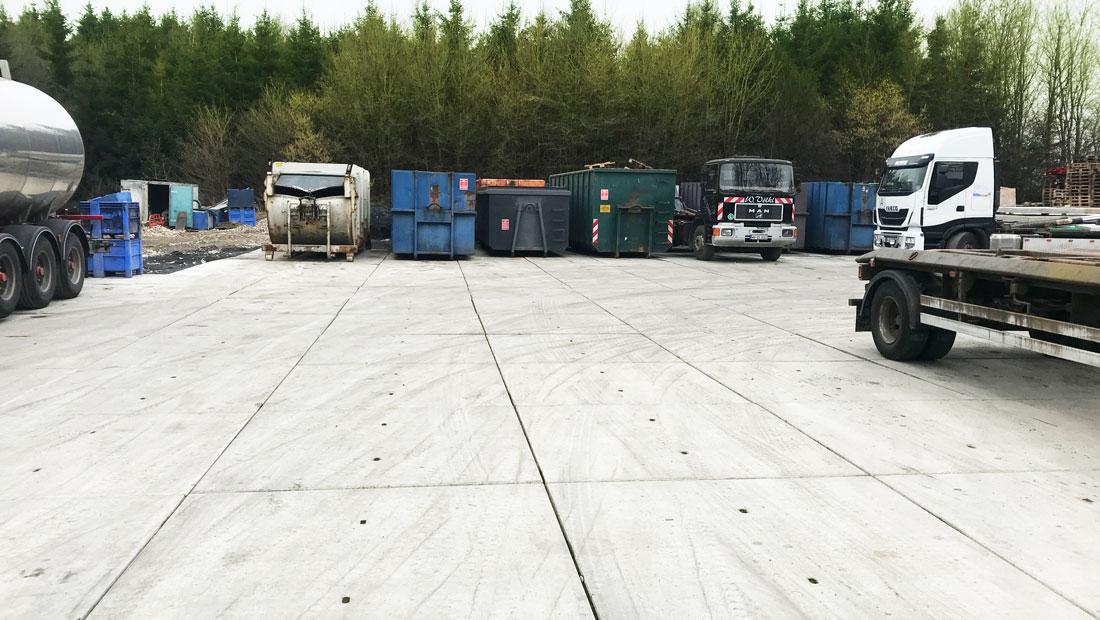 GROUND BASIC | Flächenbefestigung Containerstellplatz Ettringhausen